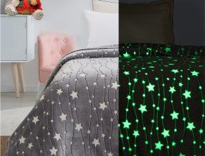 Κουβέρτα μονή φωσφορίζουσα Art 6136 160×220 Γκρι Beauty Home