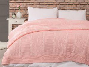 Κουβερτα Πλεκτη Edenhill Pink Υπερδιπλη 220Χ240 Cokitex