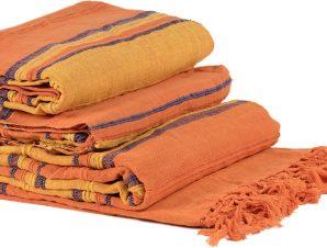 ΡΙΧΤΑΡΙΑ kerala (150cm x 180cm/170cm x 230cm/170cm x 270cm) πορτοκαλί/μπλέ