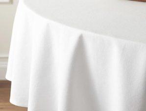 Τραπεζομάντηλο αλέκιαστο White 150 cm x 150 cm Sunshine Home