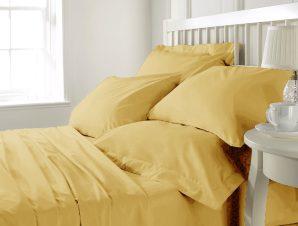 Anna Riska Σετ Σεντόνια Υπέρδιπλα με Λάστιχο 160×200+25 Prestige 11 Yellow