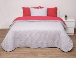 Viopros Κουβερτώριο Δίχρωμο Μονό 160×240 5100 Κόκκινο/Γκρι