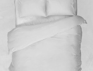 Viopros Κουβερτώριο Υπέρδιπλο 220×240 Basic Λευκό