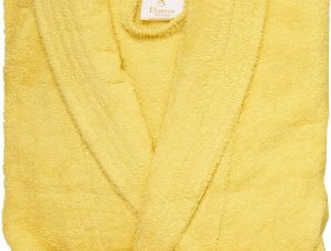 Viopros Μπουρνούζι Extra Large Classic Κίτρινο