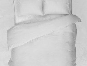 Viopros Παπλωματοθήκη Μονή 160×240 Basic Λευκό