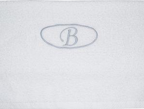 Viopros Πετσέτα μονόγραμμα Προσώπου 50×100 Β Λευκό