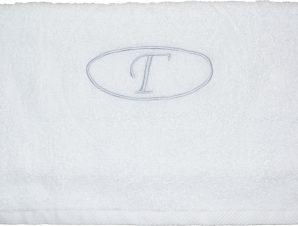 Viopros Πετσέτα μονόγραμμα Προσώπου 50×100 Γ Λευκό
