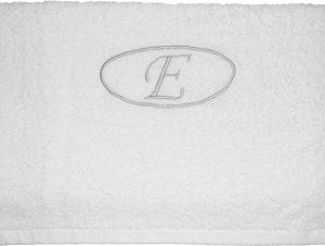 Viopros Πετσέτα μονόγραμμα Προσώπου 50×100 Ε Λευκό
