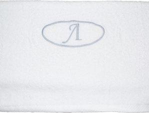 Viopros Πετσέτα μονόγραμμα Προσώπου 50×100 Λ Λευκό
