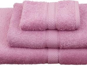 Viopros Πετσέτα Χεριών 30×30 Classic Ροζ