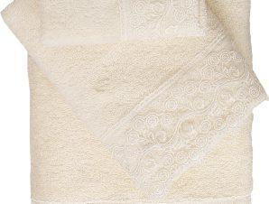 Viopros Σετ 2 Τεμ Πετσέτες 30×50, 50×100 με Δανδέλα Νο5 Εκρού