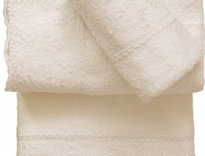 Viopros Σετ 3 Τεμ Πετσέτες 30×50, 50×100, 70×140 με Δανδέλα Νο1 Εκρού