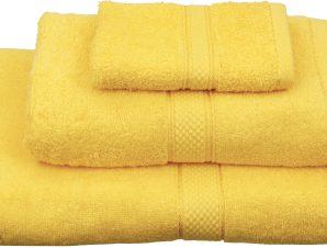 Viopros Σετ 3 Τεμ Πετσέτες 30×50, 50×100, 70×140 Classic Κίτρινο