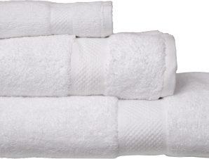 Viopros Σετ 3 Τεμ Πετσέτες 30×50, 50×100, 70×140 Luxor Λευκό
