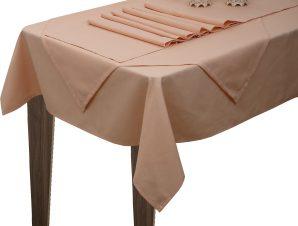 Viopros Τραπεζομάντηλο 160×160 Σάρα 2-Ροζ
